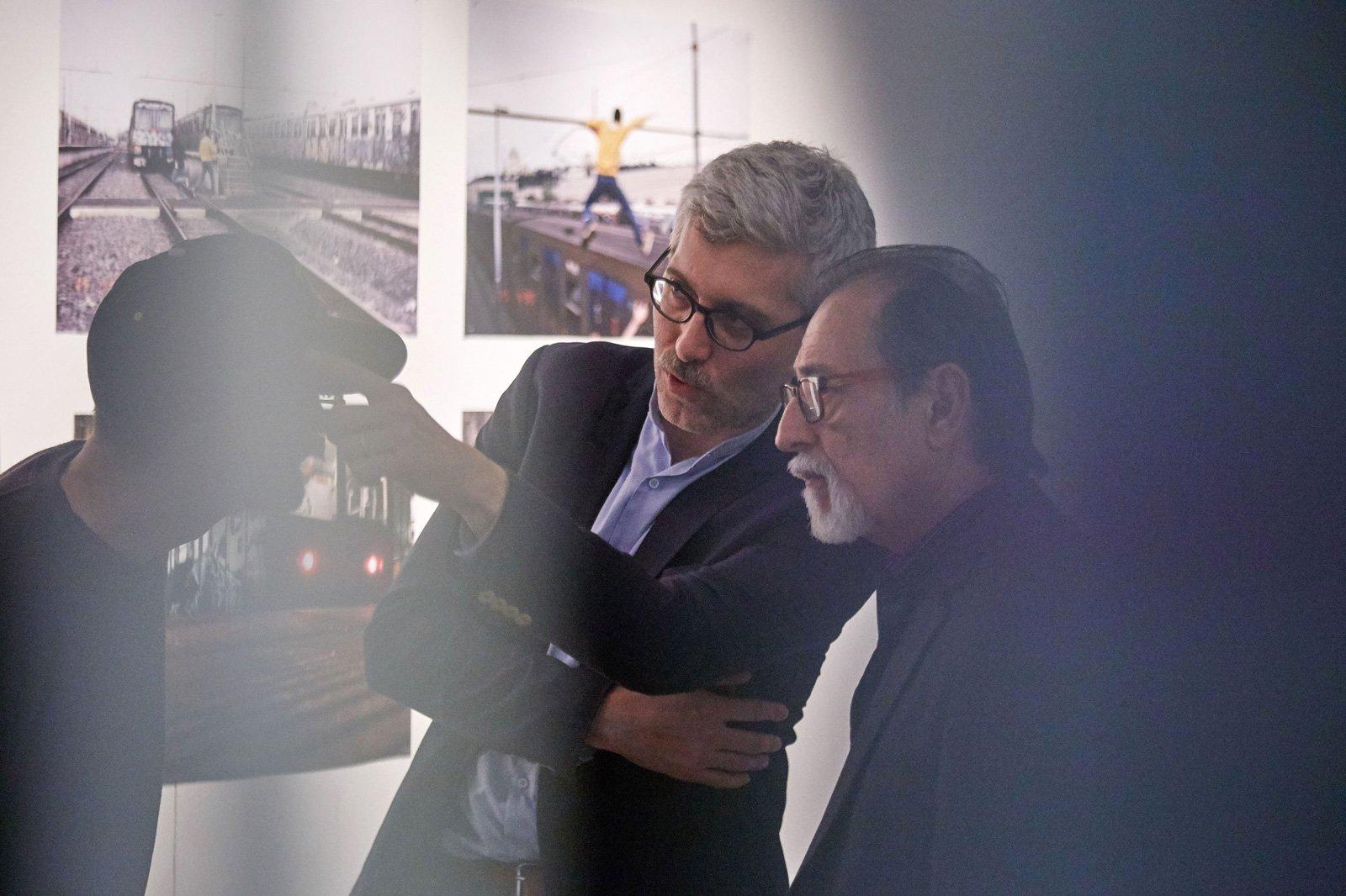 Christian Omodeo and Chaz Bojorquez, Rome, 2017 © Simon d'Exéa. Cross the Streets Inauguration at MACRO