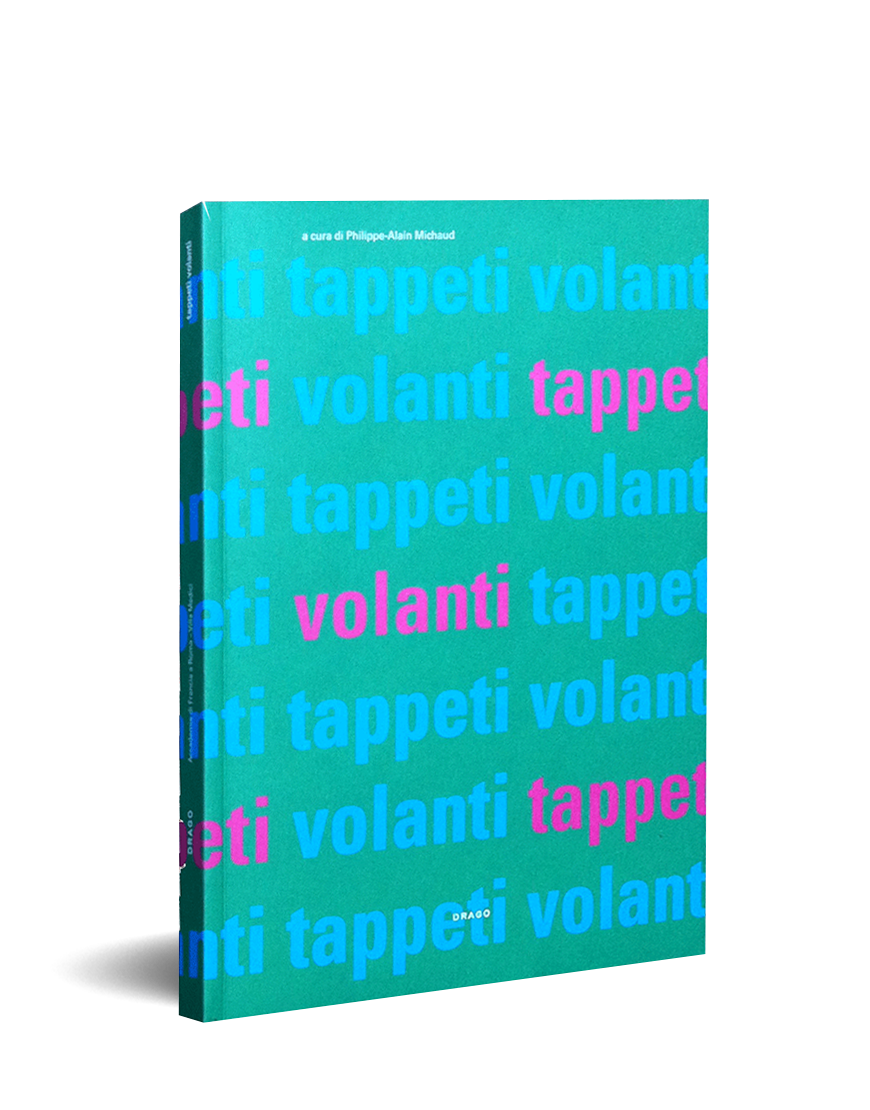 drago produce the book of the exhibition tappeti volanti