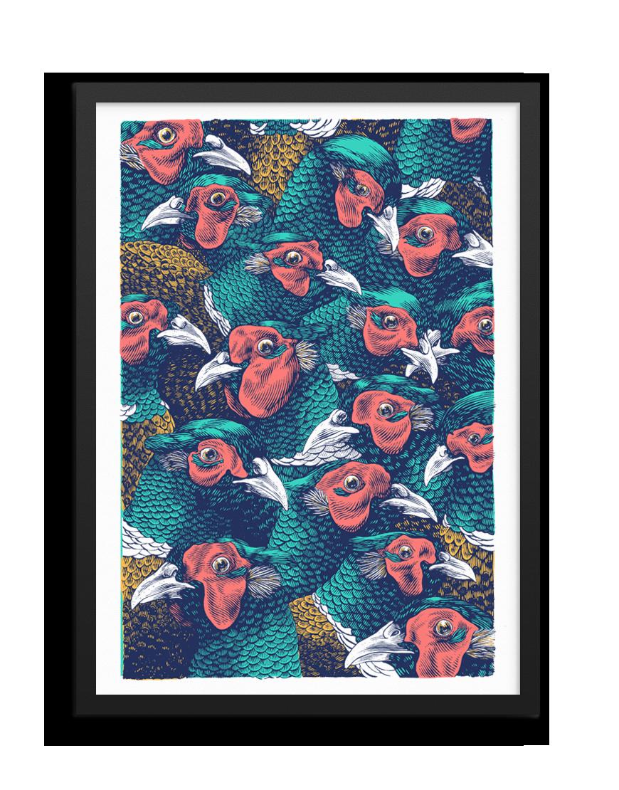 Lucamaleonte. Un mucchio di Fagiani. Limited Edition