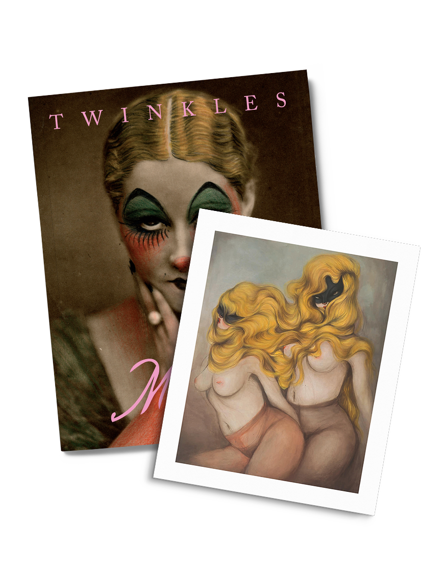 the book Twinkles by Miss Van published by Drago with a limited edition print