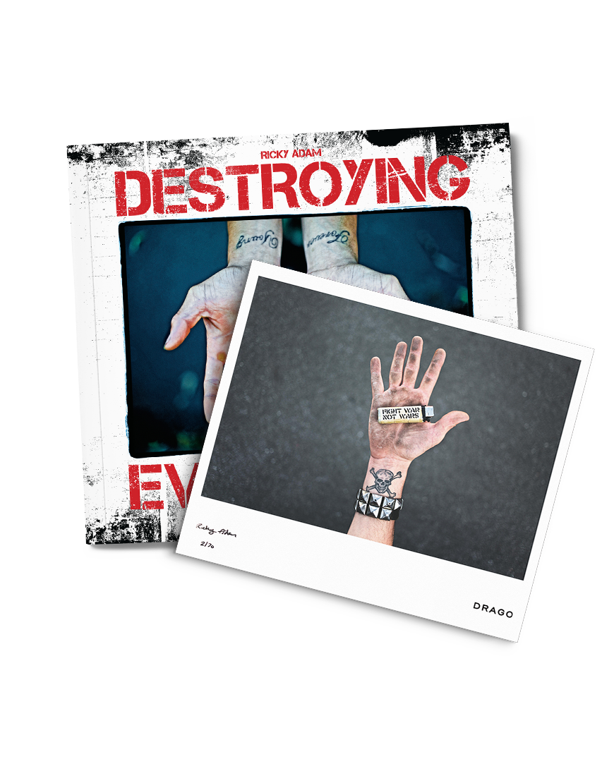 ricky adam destroying everything limited print drago and book destroying everything