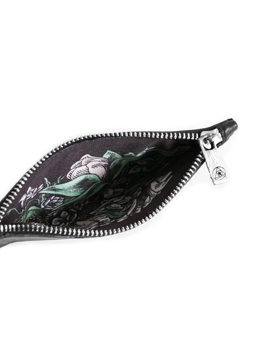 Superology x Lucamaleonte. noir flowers wallet