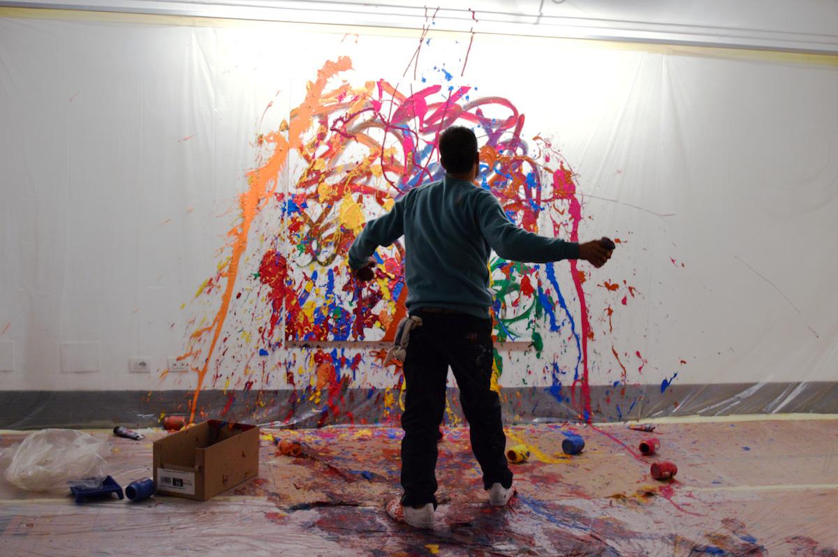 JonOne live painting Drago