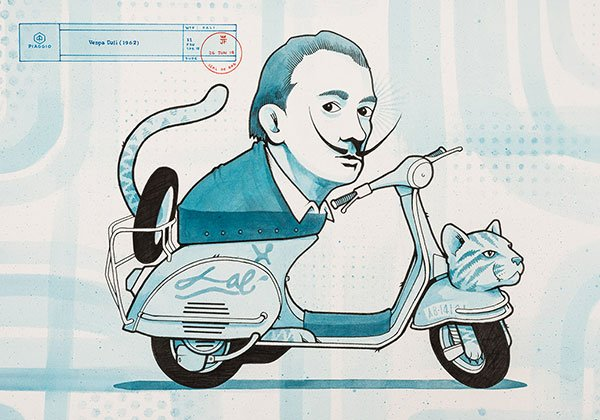 Jeremy Fish Animal Spirit Vespa Dalì Drago Publisher