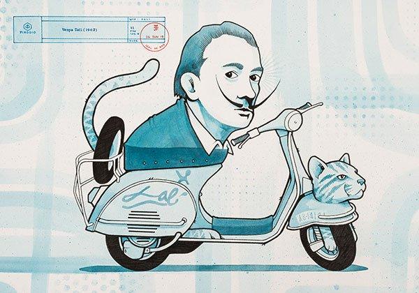 Jeremy Fish Animal Spirit Vespa Dalì Drago Publisher