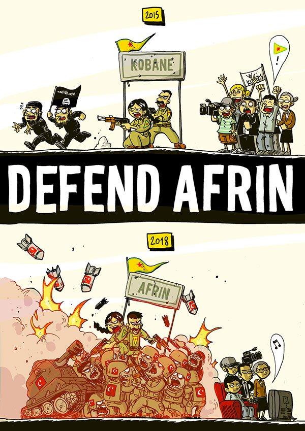Zerocalcare Defend Afrin, MAXXI, 2018, Roma