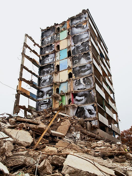 JR | 28 Millimètres, Portrait d'une génération, B11, destruction #2, Montfermeil, France, 2013, Momentum, The Museum Of Photography