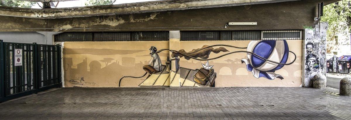 Alessandra Carloni, Street Art, Muri Sicuri, Rome, 2019