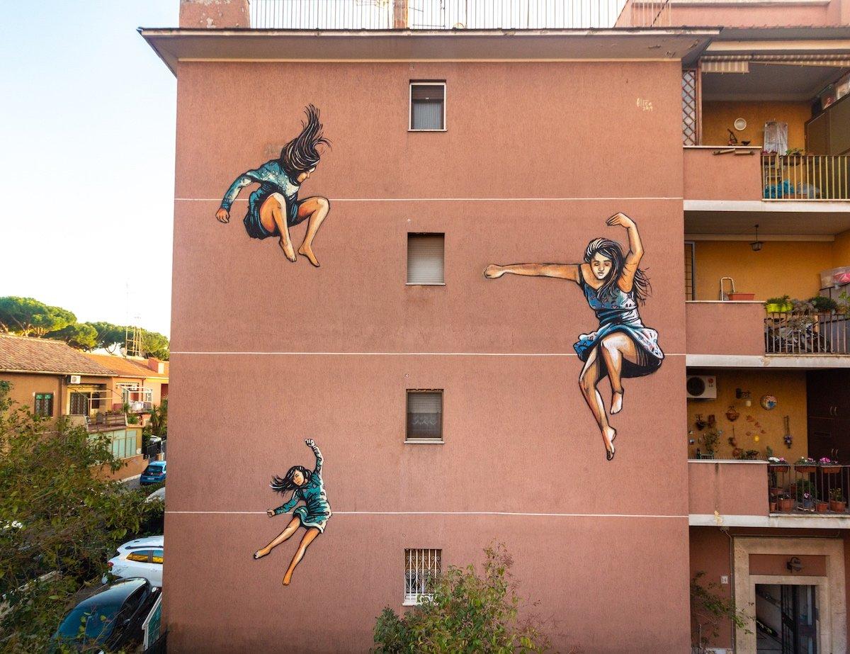 Alice Pasquini, Muri Sicuri, Street Art, Rome, Quadraro