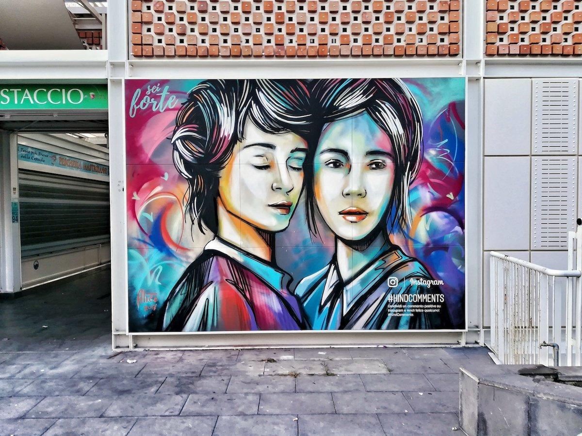 Alice Pasquini, Kind comments, Rome, 2019, Street Art