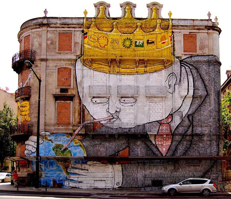 Blu, Lisbon, Mural, Street Art