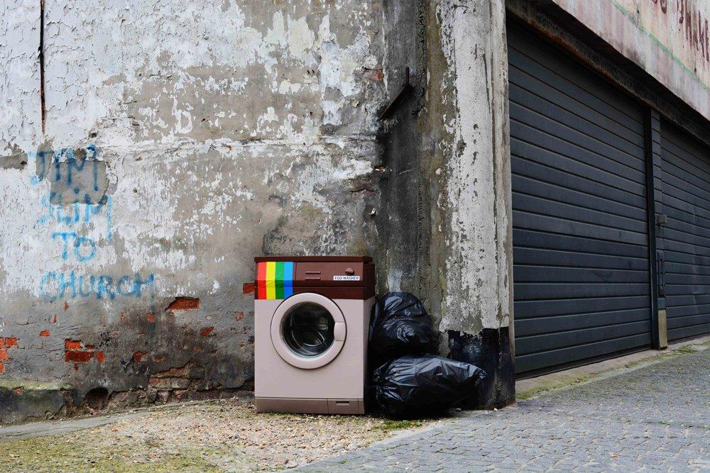 Ego Washer, biancoshock, street art, urban art, oostende, belgium, 2016