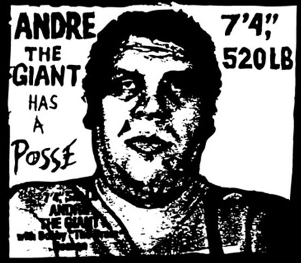 Shepard Fairey, Obey, Andre the giant, sticker, Andre the giant has a posse, street art exhibition