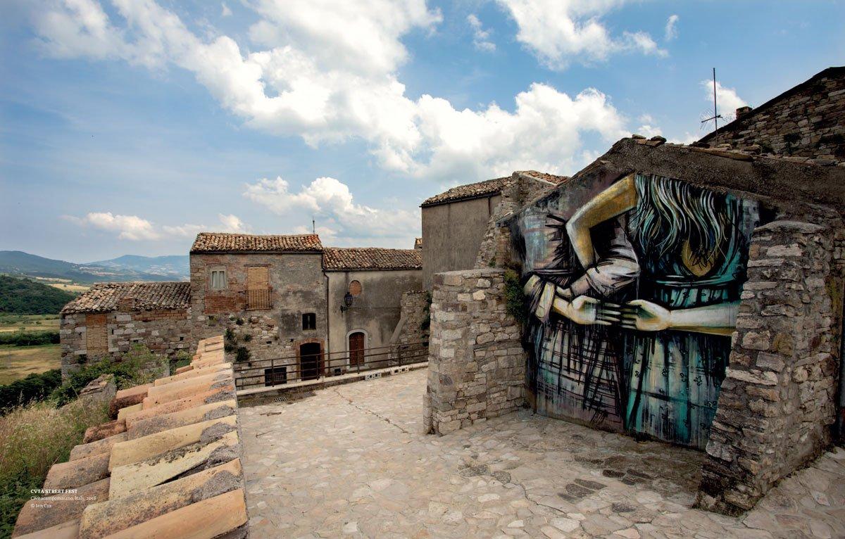 Alice Pasquini, Cività Campomarano, Italy, Street Art, Mural