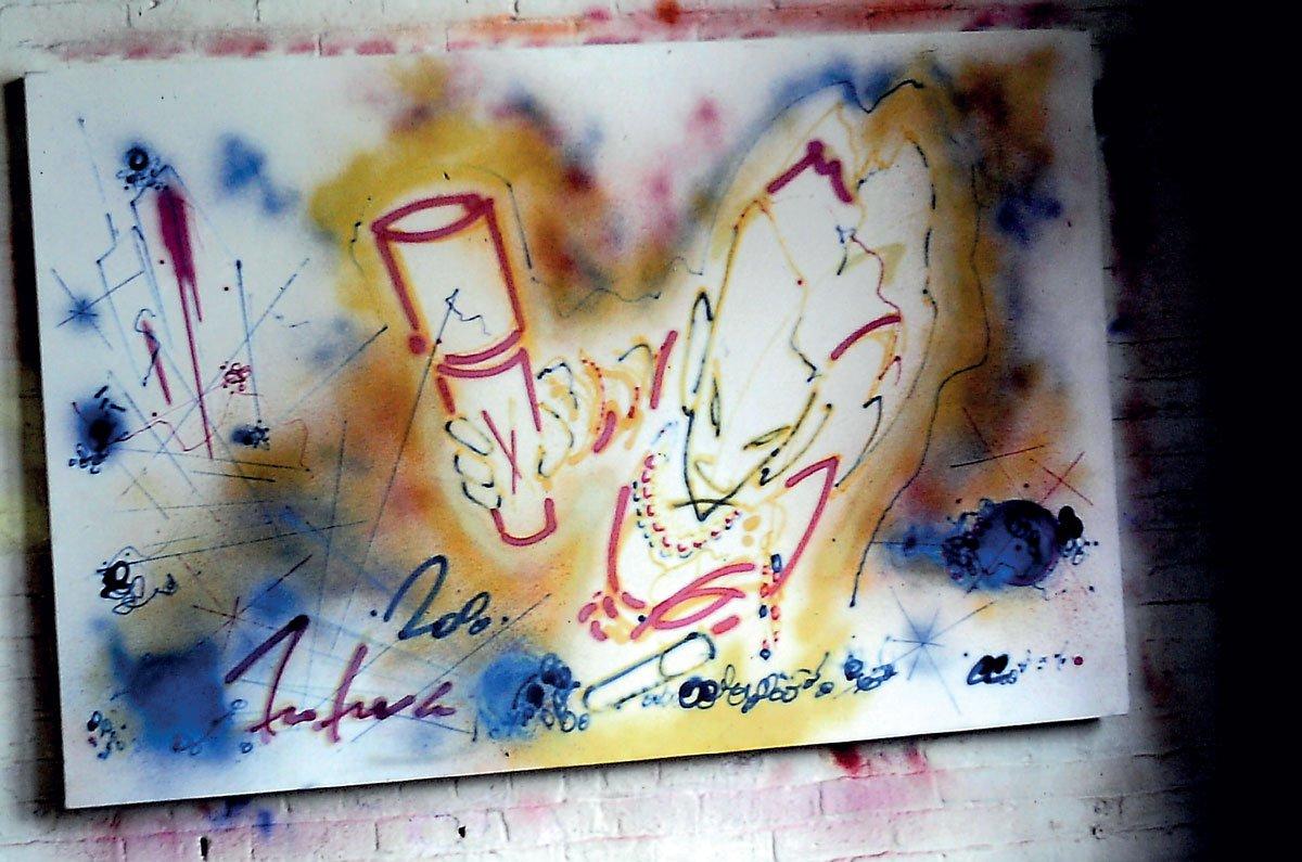 Futura 2000, Under Metropolis, 1983, Graffiti Writing, Graffiti, Full Frame, Street art