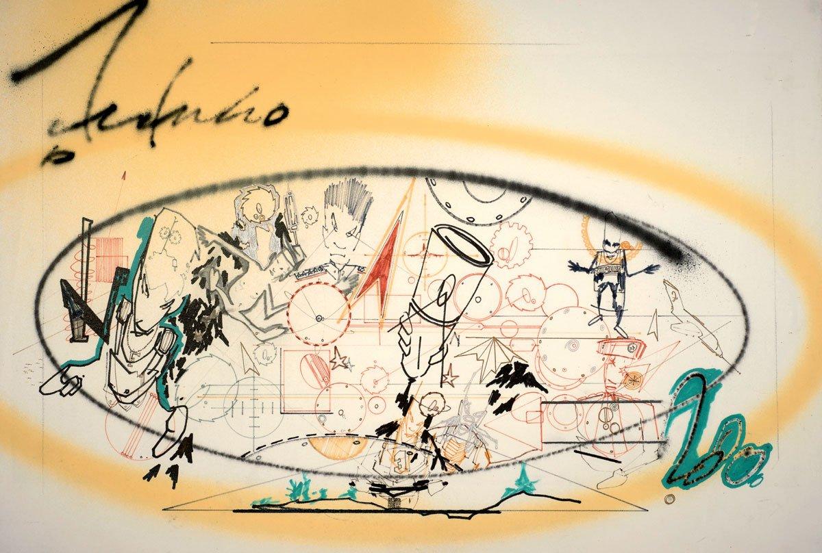 Futura 2000, Untitled, 1980, Graffiti Writing, Graffiti, Full Frame, Street art
