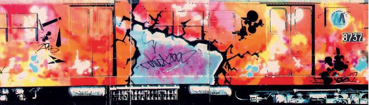 Futura 2000, Painted Train, Graffiti Writing, Graffiti, Full Frame, Street art