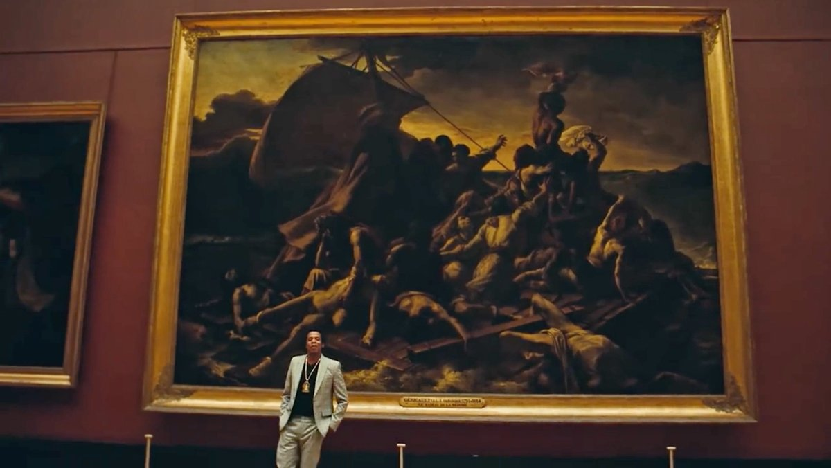 jay z, the raft of the medusa, louvre museum, hip hop