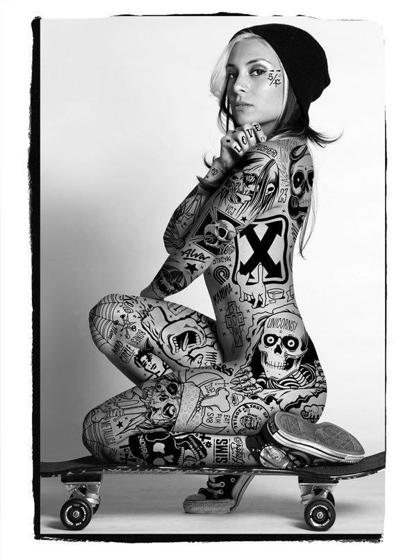 Mike Giant, Ikarina Skater, Tattoo