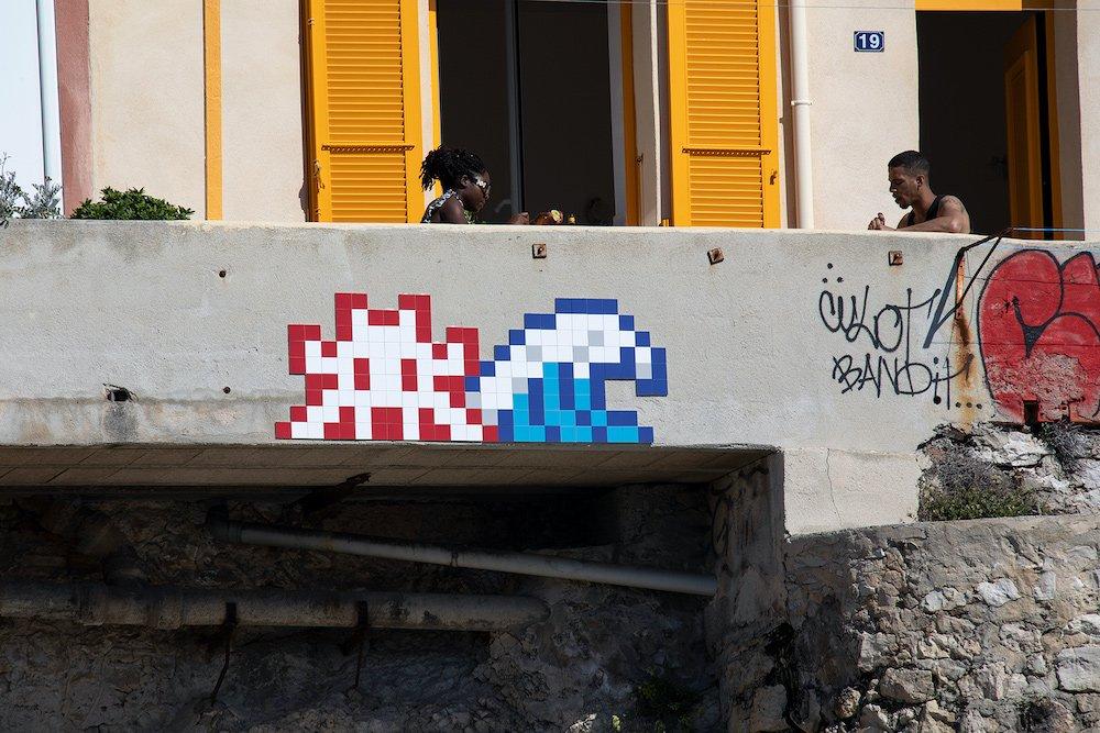 Invader, Invader was Here, Marseille, 2020