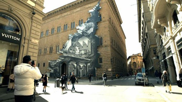 JR, The Wound, Street Photography, Palazzo Strozzi, Florence
